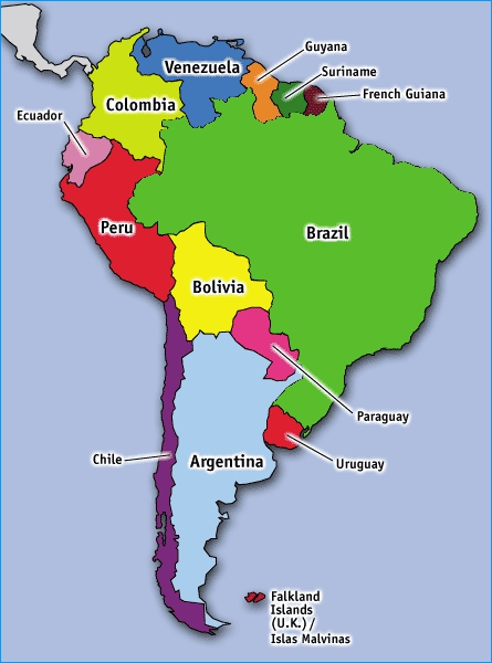 Latin America South America Map.Pam And Jeff In Latin America Map Of South America